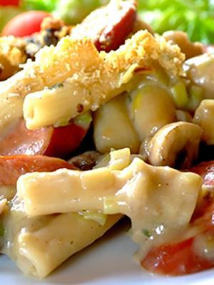 Jak gotować makaron z pieczarkami grzybowymi