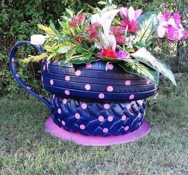kwiat ogrodowy kubek opon