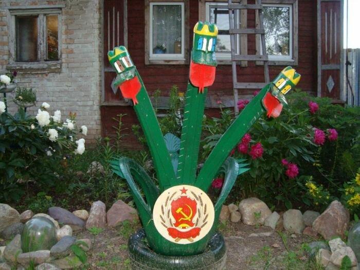 Rzemiosło z opon własnymi rękami: pomysły na wykorzystanie starych opon do dekoracji ogrodu i ogrodu (120 zdjęć + wideo)