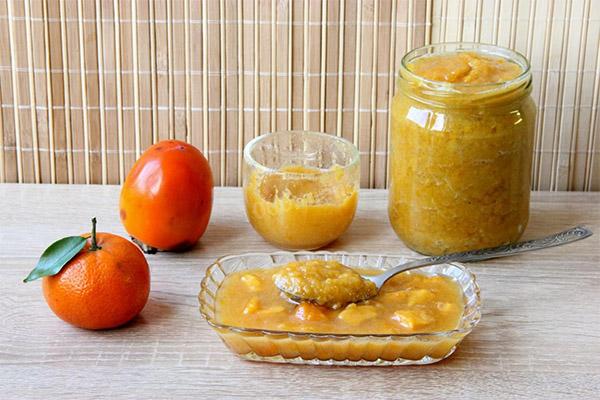 Dżem z persymony i mandarynki
