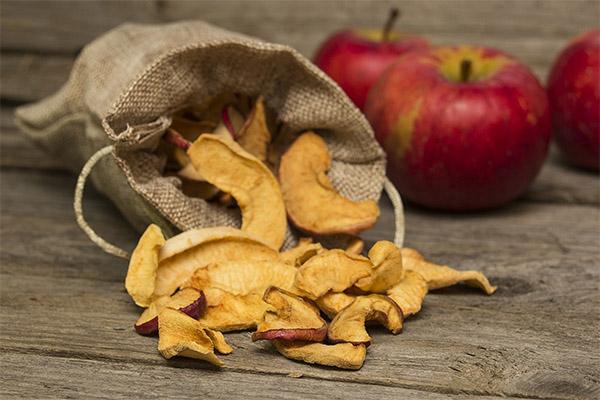Jak i gdzie przechowywać suszone jabłka