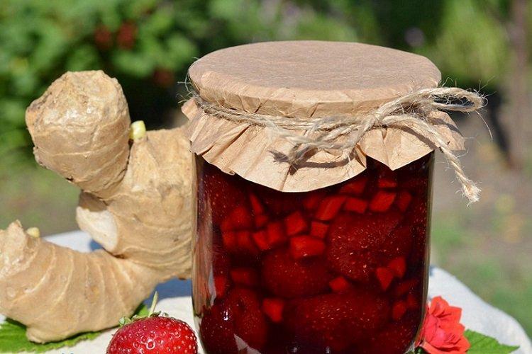 Dżem truskawkowo-imbirowy