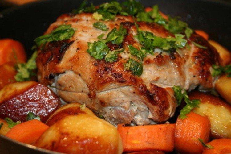 Udko wieprzowe z ziemniakami i warzywami
