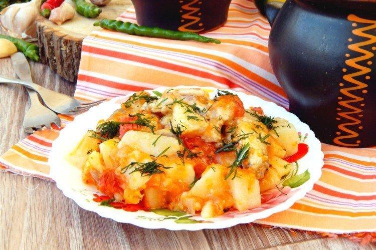 Indyk z ziemniakami i warzywami