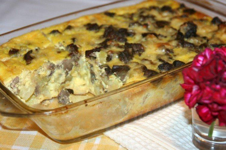 Wątróbka z indyka z ziemniakami w piekarniku