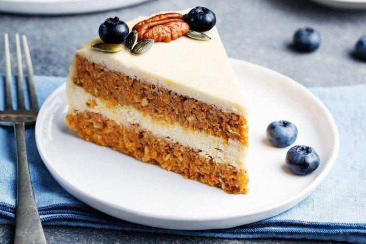 Ciasto marchewkowe z twarogiem - przepisy kulinarne